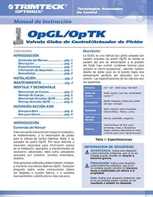OpGL™ Product Instruction Manual (Spanish)