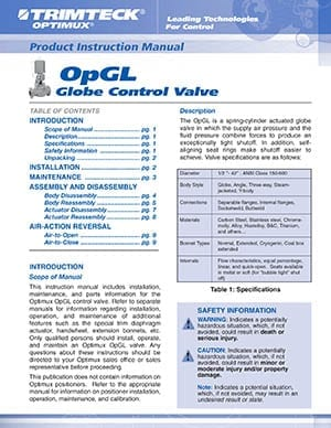 OpGL™ Product Instruction Manual (English)