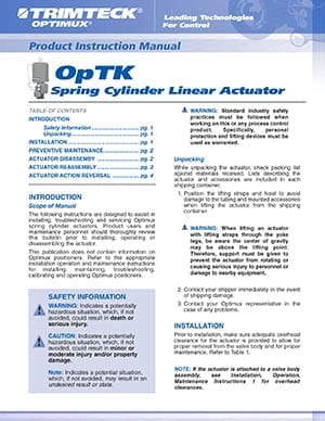 OpTK™ Linear Product Instruction Manual