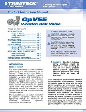 OpVEE™ Product Instruction Manual