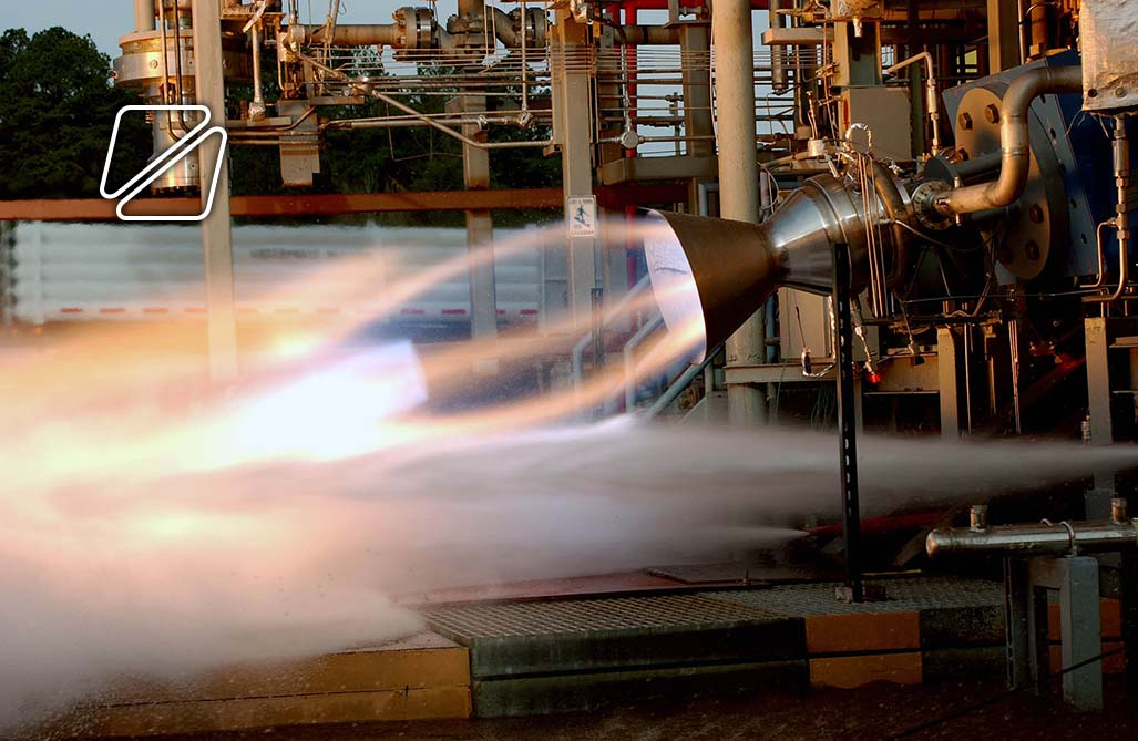 Rocket test firing